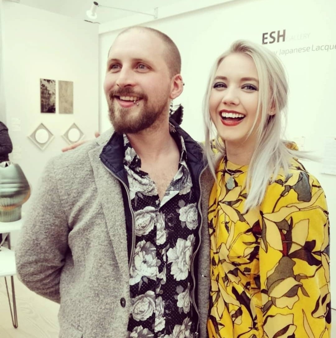 Elliot Walker and Bethany Wood at Collect, Saatchi Gallery 2019
