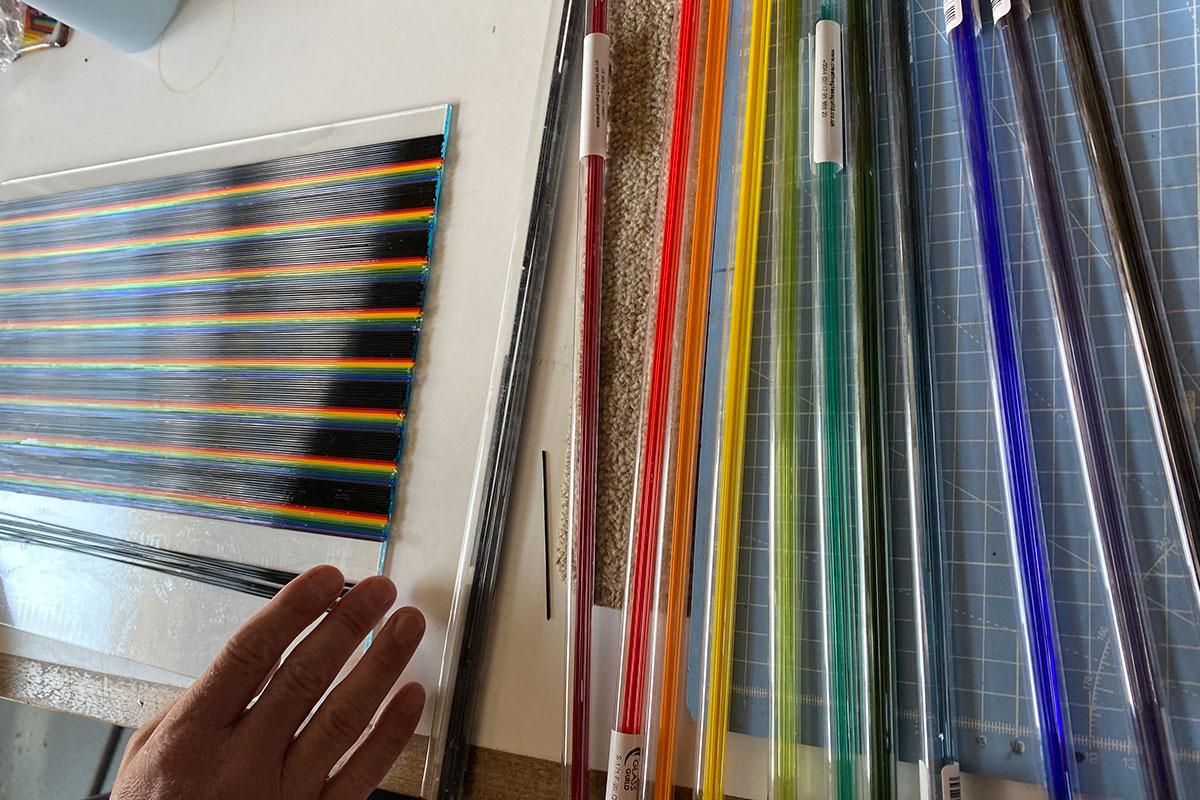 Ian Chadwick fused glass panels
