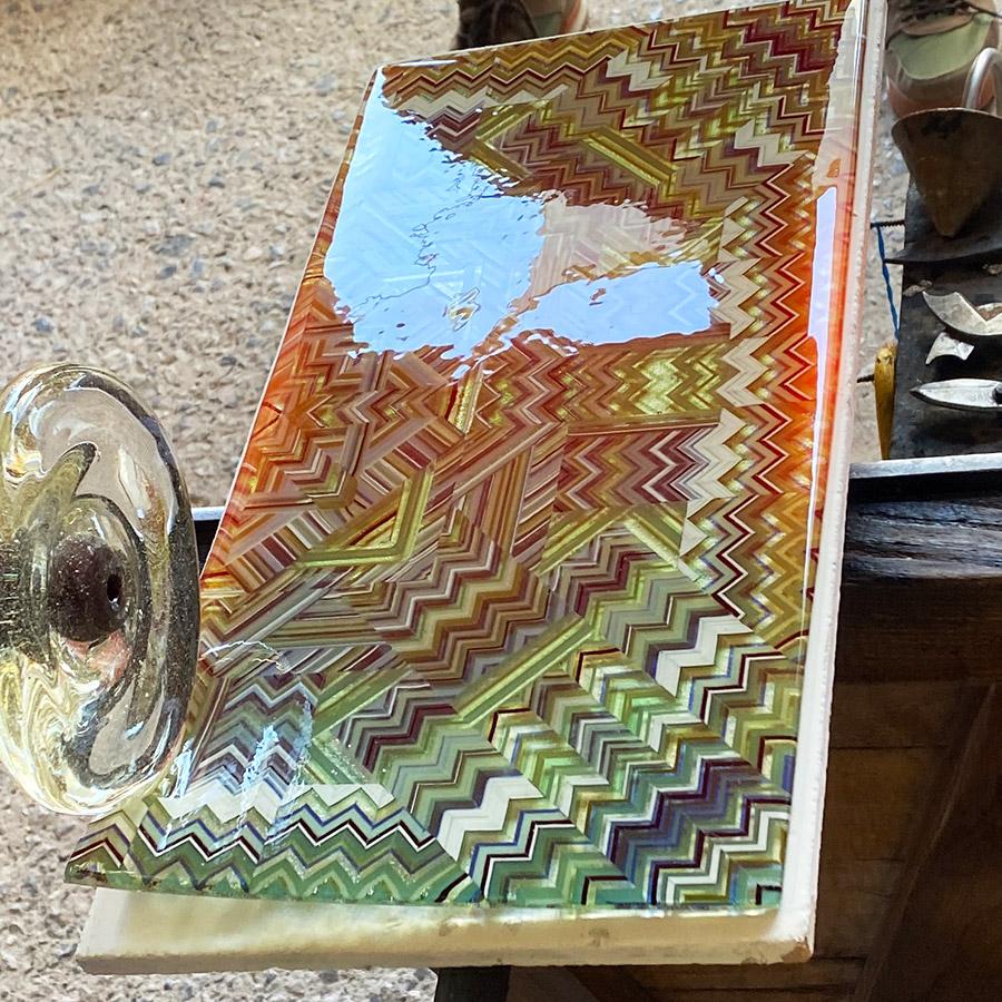 Ian Chadwick Residency, Fused Glass Roll Up