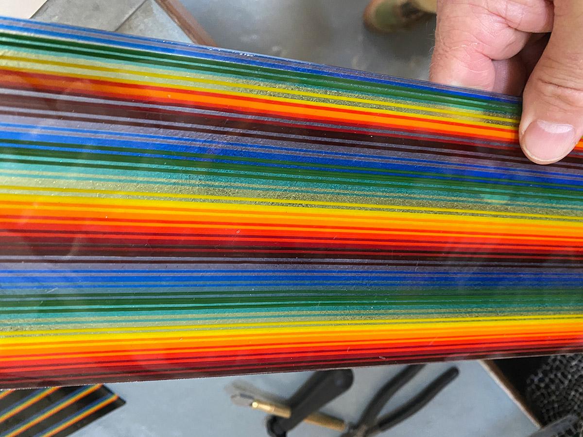 Ian Chadwick Residency, Fused Glass Rainbow Panel