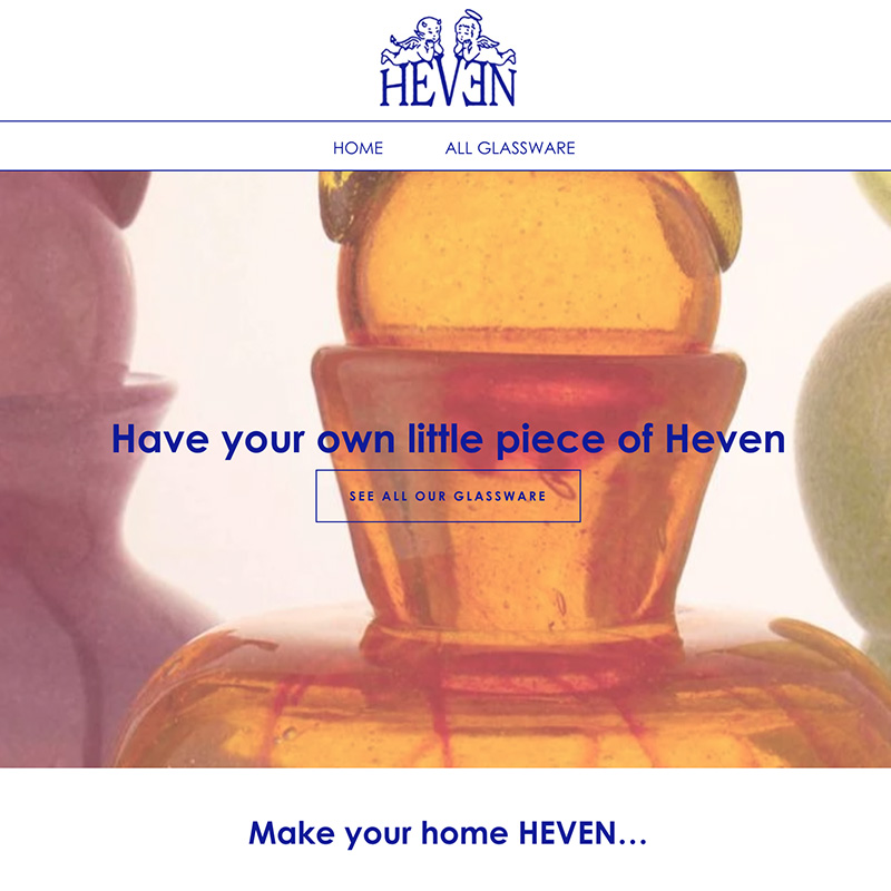 Heven Homepage Screenshot