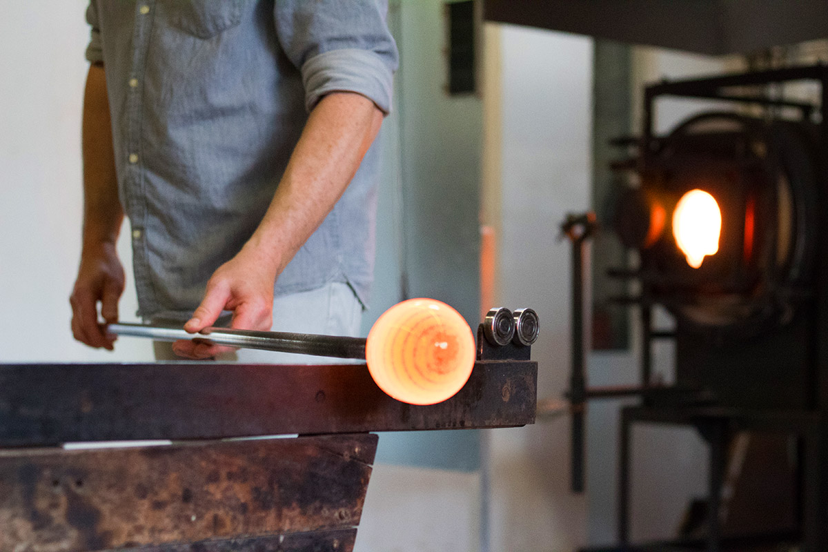 Hot Glassblowing Orb