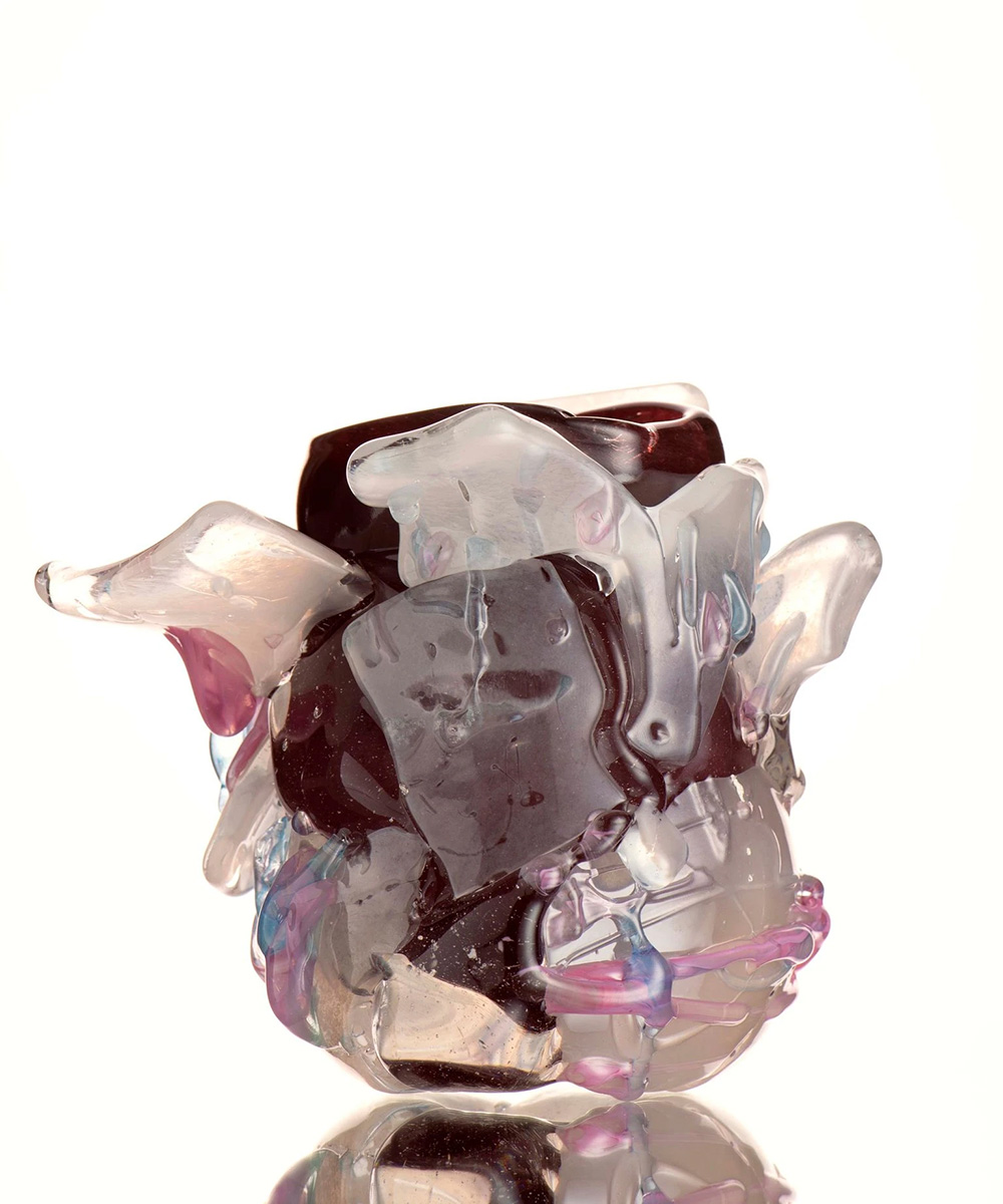 Glass Art Vase Titled 'She Fell From Heaven'